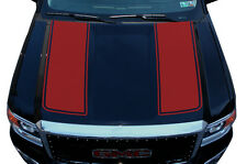 Custom Vinyl Graphics Decal Wrap Kit for 2014-2017 GMC Sierra RACING STRIPES Red