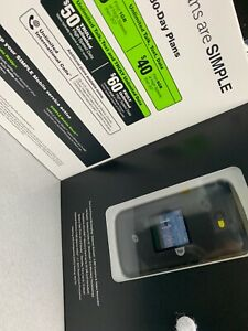 SIMPLE Mobile Alcatel A405 Flip Prepaid Cellphone+first Month Service Of $25