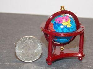 Dollhouse Miniature World Globe Office Mahogany 1:12 scale E20 Dollys Gallery
