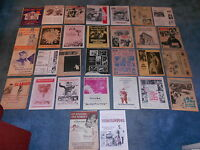 LOT OF 43 DIFFERENT ORIGINAL PRESSBOOK HERALDS FROM THE 50'S & 60'S