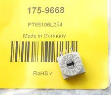 Hartmann PT65106L254 16 Way Through Hole DIP Switch, Wheel Actuator, IP67