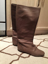 Authentic *Chloe* beige distressed leather riding boots 41-$1150