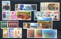 MALTA 9 different Complete Sets YEARS 1980/5 MNH
