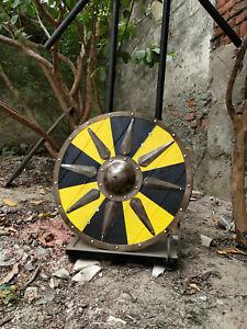 "Medieval Heavy shield Battle Ready/decorative Viking shield Wooden shield 24"""