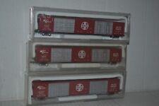 3 Con-Cor Santa Fe ATSF 85' Hi-Cube Boxcars N scale
