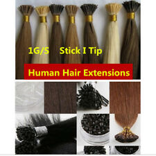 """Thick 1g/s Keratin Stick I-Tip Fusion Remy Human Hair Extensions Straight 16-24"""""""