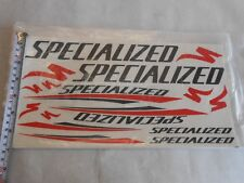 Specialized Bike Bicycle Frame Fork Stickers Decals Black/Red /Clear