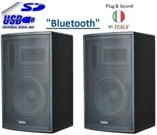COPPIA 2 CASSE ACUSTICHE AMPLIFICATE ATTIVE AUDIO MP3 USB/SD KARAOKE BLUETOOTH
