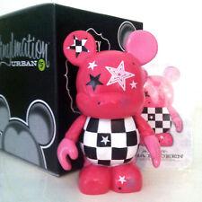 "DISNEY VINYLMATION 3"" URBAN SERIES 5 PINK ROCK STAR MICKEY MOUSE CHECKER BOARD"