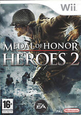 MEDAL OF HONOR HEROES 2 for Nintendo Wii - with box & manual - PAL