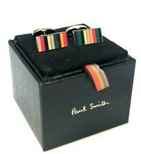 "New! $150 Paul Smith ""Multi Stripe"" Classic Cufflinks"