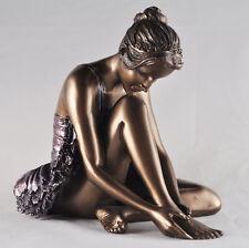 Bronze Ballerina Dancer Sculpture Figurine Ballet Girls Gift Idea H14cm 01530
