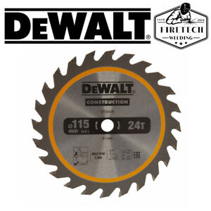 DEWALT DT20420 115MM X 9.5MM BORE 24T TCT SAW BLADE FOR DCS571 18V TRIMSAW