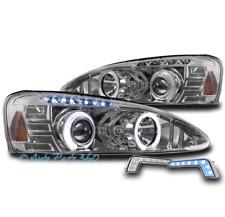 04-08 PONTIAC GRAND PRIX HALO LED PROJECTOR HEADLIGHTS CHROME W/BLUE DRL SIGNAL