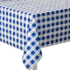 Checked Gingham Plastic Tablecloths Ebay