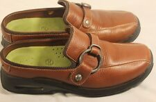 Cole Hahn Mule Sandal Shoe Leather Comfort Buckle Rubber Sole Walking