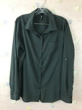 O'NEILL Women's Button Front Long Sleeves Shirt Polyester Size Large Gray
