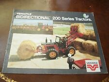 1985 Versatile Bidirectional 200 Series Tractors Sales Brochure