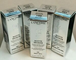 NIB Lanome MATTE SHAKER Liquid Lipstick 6.2 ml/0.20 oz  You Choose The Shade