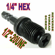 "1 pc 1/4 Hex Adapter to 1/2""-20UNF Thread with Lock Screw to Drill Chuck sct-888"