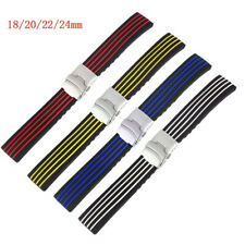 Silicone Watch Strap 18/20/22/24mm Rubber Band Waterproof Replacement Bracelet
