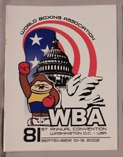 2002 WBA WORLD BOXING ASSOCIATION ANNUAL CONVENTION PROGRAM