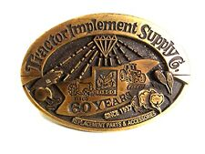 Vintage TISCO Tractor Implement Supply Co. 60 Years Brass Belt Buckle