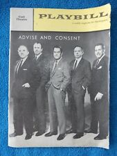 Advice And Consent - Cort Theatre Playbill - April 3rd, 1961 - Ed Begley - Kiley
