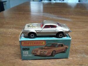 Matchbox #16 Pontiac In Box