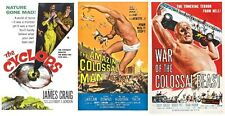 CYCLOPS 1957,AMAZING COLOSSAL MAN 1957 ,WAR OF THE COLOSSAL BEAST 1958 GIANTS!
