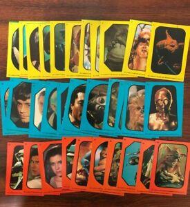 1983 Topps Star Wars Return of the Jedi Complete Sticker Set 1-33