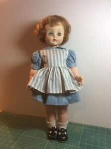 """Madame Alexander 20"""" doll, Kelly or Edith, 1958, with additional dress"""