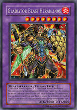 YuGiOh Gladiator Beast Heraklinos - GLAS-EN044 - Secret Rare - Unlimited Edition