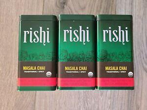 Rishi Masala Chai loose leaf black tea Brews 20 cups 3.00 oz LOT OF 3 FREE SHIP