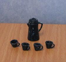 1/12, Dolls House Miniature Retro Coffee pot / Tea Set Artist workman shed  LGW