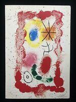 Joan Mirò - Per Jacques Dupin, litografia, 24x34 cm, 1961, 500 esemplari