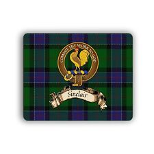 Sinclair Scottish Clan Mousepad Hunting Tartan Crest Motto Computer Mouse Mat