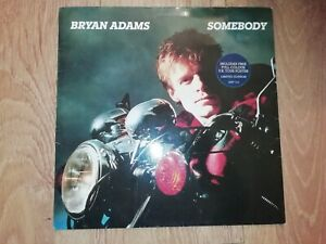 "BRYAN ADAMS * SOMEBODY * LIMITED EDITION 12"" VINYL INCLUDES LARGE TOUR POSTER"
