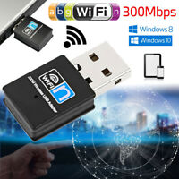 USB Wireless WiFi Adapter 300Mbps 2.4GHz Lan Network Receiver For Laptop PC