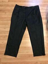 """Black AUSTIN REED LONDON MEN'S Dress PANTS 46"""" x 32"""" big & tall pleated"""