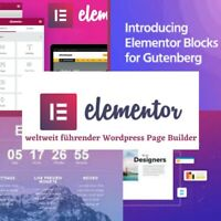 👉 Elementor Pro - Wordpress - Plugin - PageBuilder - Webseite 👈