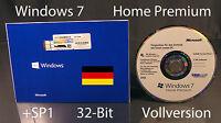 Microsoft Windows 7 Home Premium Vollversion SB 32-Bit Hologramm-CD +SP1 OVP NEU