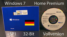 Microsoft Windows 7 Home Premium versione completa SB 32-bit OLOGRAMMA-CD +sp1 OVP NUOVO
