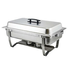 Winco C-4080, 8-Quart Full-Size Folding Stand Chafer with Dome Cover, Stainless