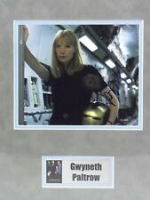 """IRON MAN photo signed by GWYNETH PALTROW """"Pepper Potts"""" COA, matted w/name plate"""