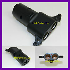 12 Volt Power Cord Outlet Adapter to 7 way Trailer Truck RV Camper Plug F72P
