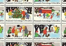 1982 - WINTER SCENES - #2027-30 Full Mint -MNH- Sheet of 50 Postage Stamps