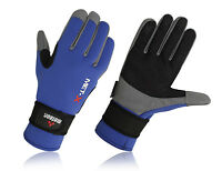NEW MENS SAILING GLOVES WITH NEOPRENE AND AMARA PALMS ALL SIZE BLUE