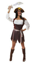 SEXY PIRATE WOMAN FANCY CARIBBEAN LADY COSTUME HALLOWEEN PIRATESS HB FREE UK P+P