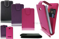 NEW STYLISH PU LEATHER CARD FLIP MOBILE PHONE CASE COVER POUCH FOR HTC 8S